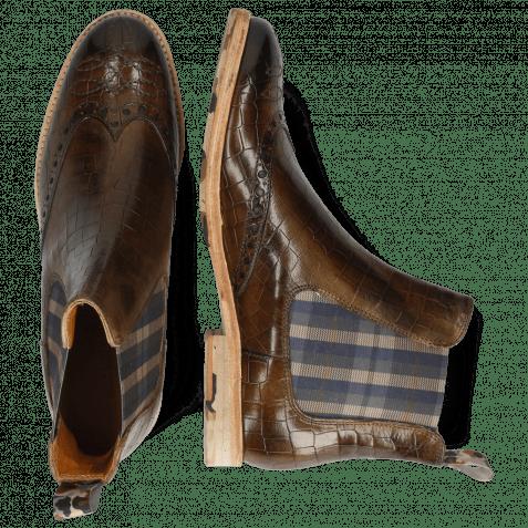 Ankle boots Amelie 77 Crock Khaki Loop Camo Elastic Norwegian