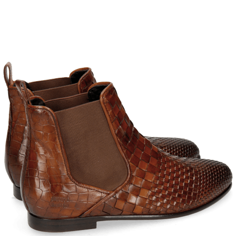 Ankle boots Lina 2 Interlaced Tan