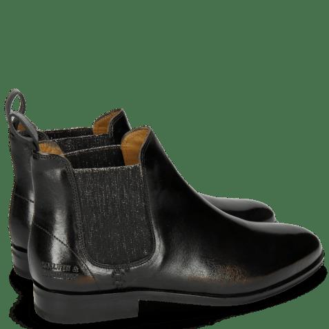 Ankle boots Susan 10 Rio Black Elastic Glitter