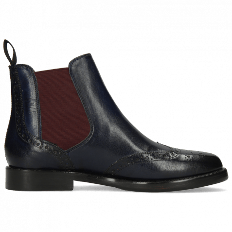 Ankle boots Selina 6 Pisa Navy Elastic Burgundy