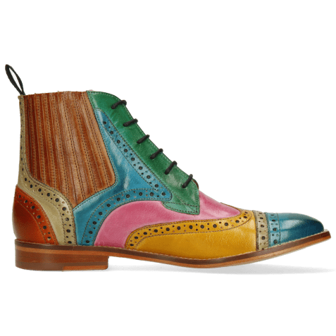 Ankle boots Amelie 17 Venice Turquoise Mint Green Sun Pink Red