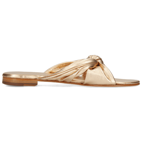 Mules Hanna 63 Nappa Rose Gold Footbed