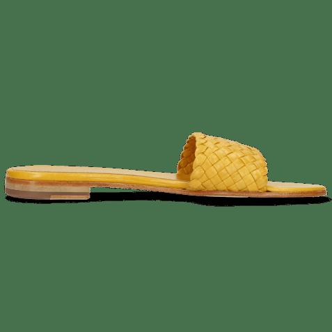 Mules Hanna 26 Woven Yellow