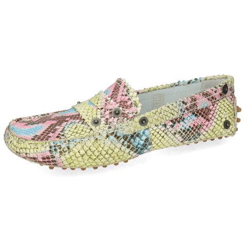 Loafers Caroline 1 Snake Scale Fuxia Dots