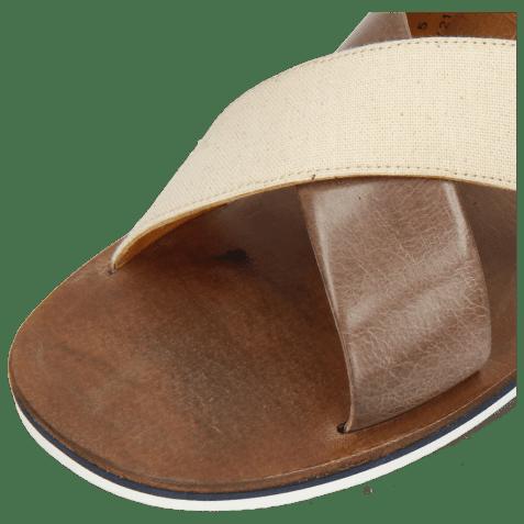 Mules Sam 5 Imola Ash Textile Indonesia Off White