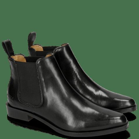 Ankle boots Marlin 4 Black Elastic Black HRS Black Brown