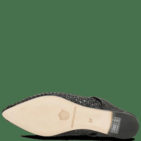 Mules Alexa 15 Woven Black Glove Nappa
