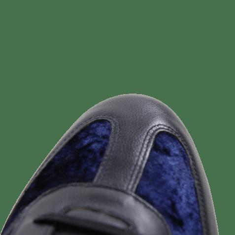 Sneakers Neal 1 Velvet Nappa Navy Strap White Rubber Navy EVA White Red