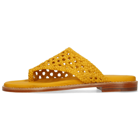 Mules Elodie 16 Mignon Open Woven Yellow