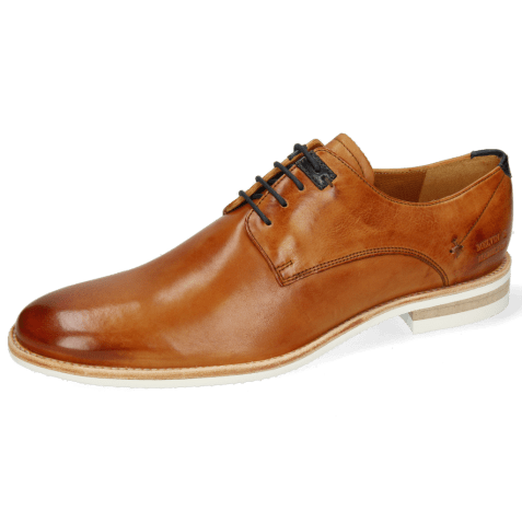 Derby shoes Clint 1 Imola Tan Deco Pieces Navy