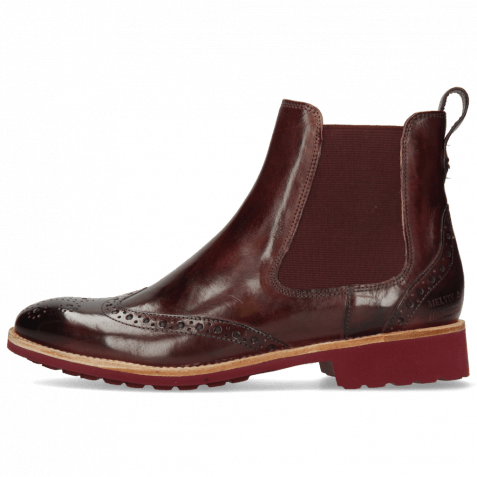 Ankle boots Amelie 5 Wine Elastic Burgundy