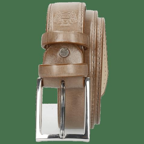 Belts Larry 1 Light Grey Classic Buckle