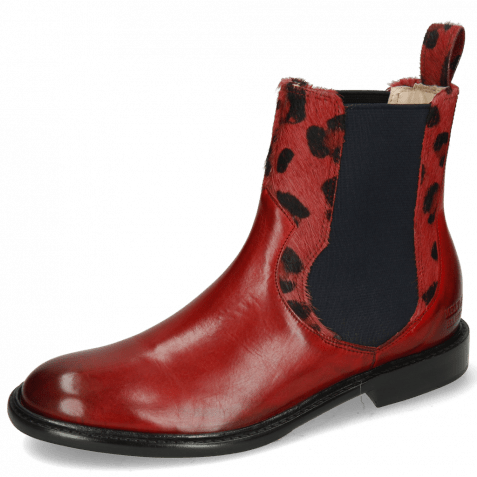 Ankle boots Sally 113 Ruby Hairon Tanzania Red