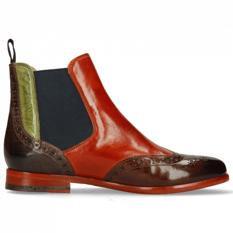 Ankle boots Selina 6 Wood Winter Orange New Grass Stone