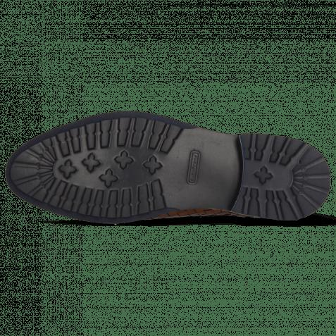 Ankle boots Brad 6 Woven Tan Elastic Navy Aspen Navy