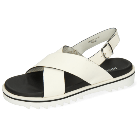 Sandals Helen 13 Flex White Edge Black Strap