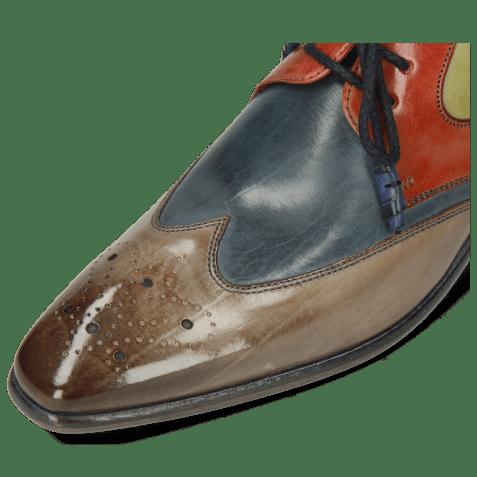 Derby shoes Elvis 63 Digital Wind Earthly Mid Green