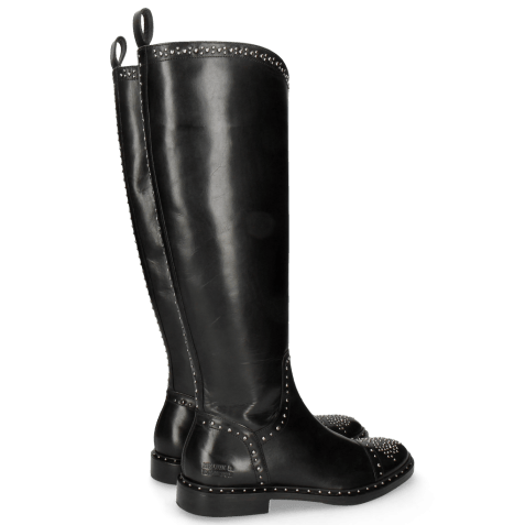 Boots Sally 116 Black Rivets Nickle Lining