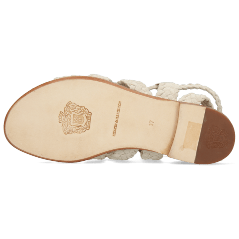 Sandals Sandra 11 Suede Chilena Woven Ivory Footbed