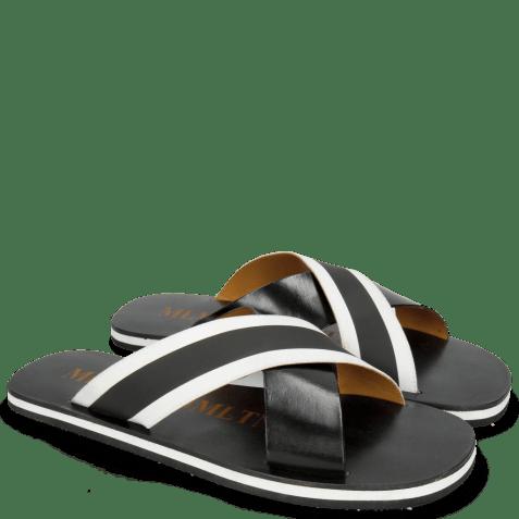 Mules Sam 5 Black Elastic Rifra Black White