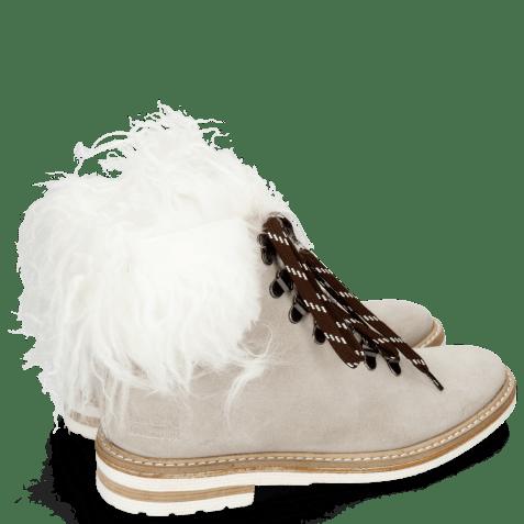 Ankle boots Amelie 79 Suede Pattini Jute Collar Fur Mongolian