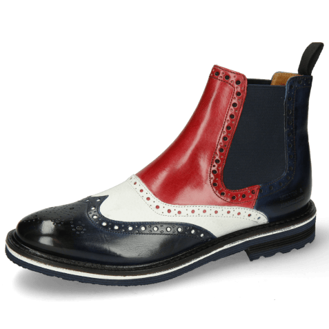 Ankle boots Amelie 24 Navy Milled White Ruby