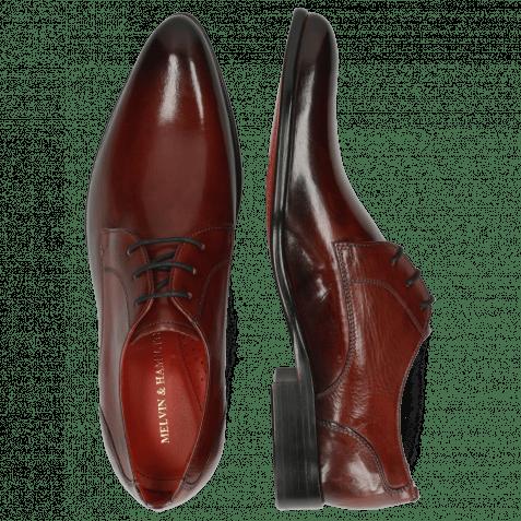 Derby shoes Toni 1 Plum Shade Black