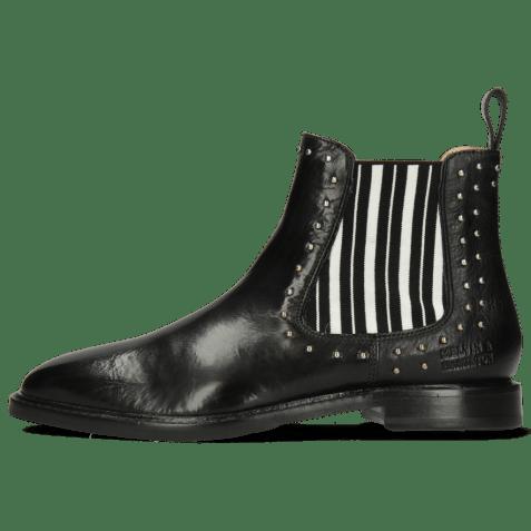 Ankle boots Katrin 3 Imola Black Elastic Black White