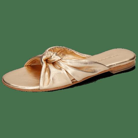 Mules Hanna 63 Nappa Rose Gold Footbed