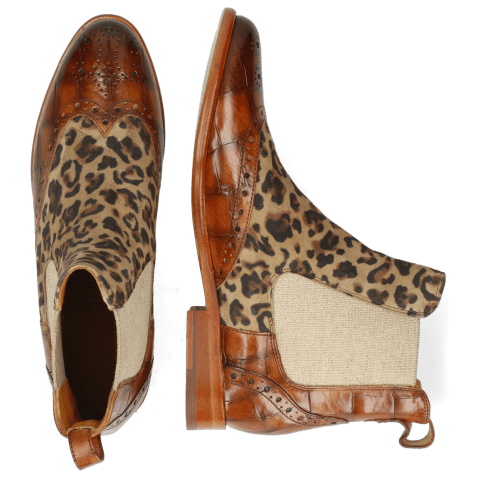 Ankle boots Selina 29 Turtle Tan Suede Leo Beige
