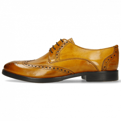 Derby shoes Amelie 3 Indy Yellow Lining Nappa