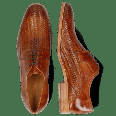 Derby shoes Eddy 8 Woven Haring Bone Tan