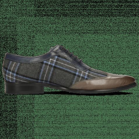 Oxford shoes Rico 8 Rio Stone Tex Check Turbo