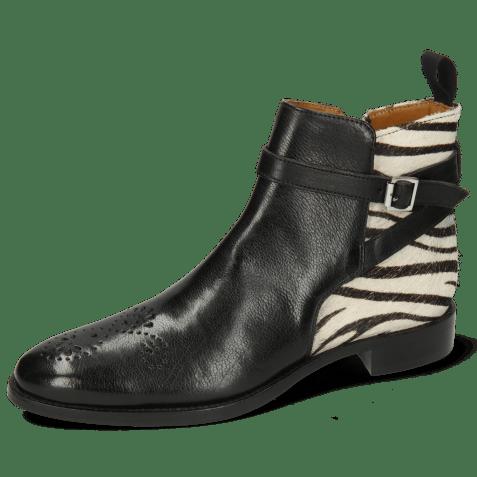 Ankle boots Betty 8 Pisa Black Hairon Zebra