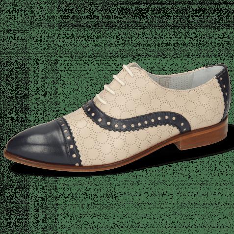 Derby shoes Jessy 54 Nappa Glove Deep Navy Cream