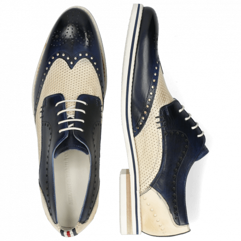 Derby shoes Scott 2 Nude Vegas Perfo Navy