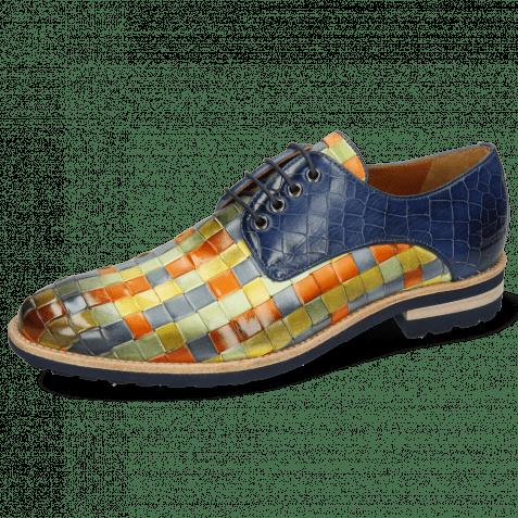 Derby shoes Brad 7 Woven Vegas Multi Crock Marine