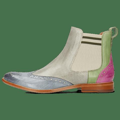 Ankle boots Amelie 5 Imola Satellite Algae Lilac Perfo Digital