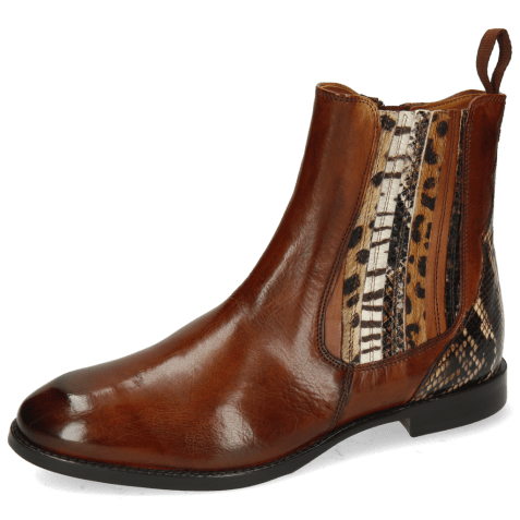 Ankle boots Lexi 2 Pisa Wood King Snake Brown
