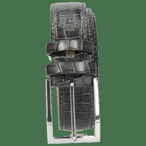 Belts Larry 1 Crock Grigio Classic Buckle