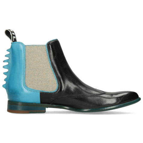 Ankle boots Keira 7 Vegas Black Turquoise Loop