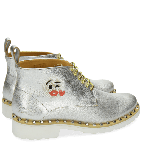 Ankle boots Bonnie 9 Cherso White Silver Emoji Kiss