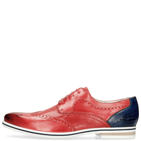 Derby shoes Scott 2  Vegas Perfo Ruby Vegas Navy Strap