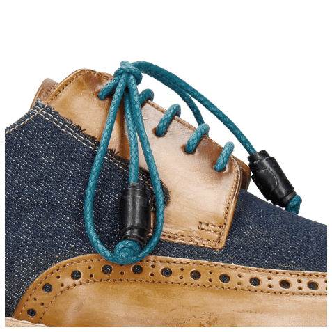 Derby shoes Marvin 13 Tan Denim Blue Modica