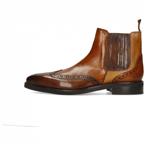 Ankle boots Lance 56 Monza Mid Brown Wood Sand Tan Elastic Navy