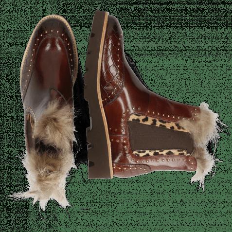 Ankle boots Daisy 4 Crock Mogano Hairon Tanzania Collar Fur