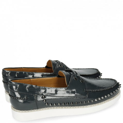 Loafers Jim 1 Soft Patent Navy Rivets