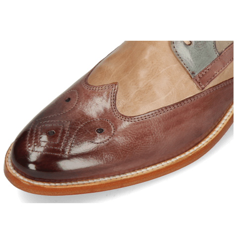 Derby shoes Betty 16 Pavia Light Purple Cappuccino Satellite Oxygen