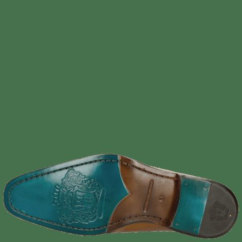 Derby shoes Clark 14 Sand Lasercut Rose Electric Blue