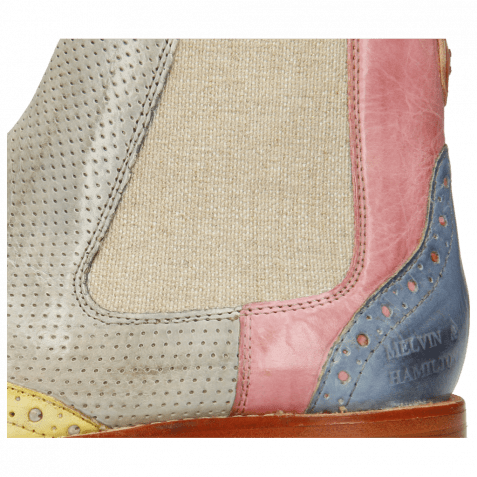 Ankle boots Amelie 5 Imola Margarine Perfo Oxygen Rose Satellite